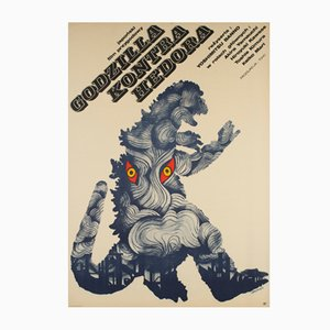 Polish Godzilla vs. Hedorah Movie Poster by Zygmunt Bobrowski, 1973