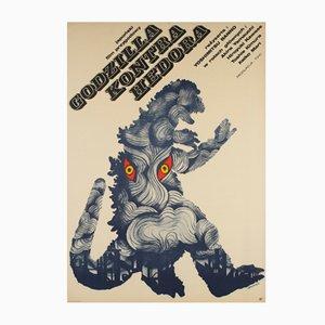 Poster del film Godzilla vs Hedorah di Zygmunt Bobrowski, Polonia, 1973