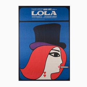 Póster polaco de la película Lola de Maciej Hibner, 1967