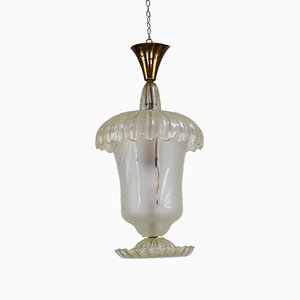 Lampada vintage di Archimede Seguso per Seguso, anni '40
