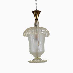 Lampe à Suspension Vintage par Archimede Seguso pour Seguso, 1940s