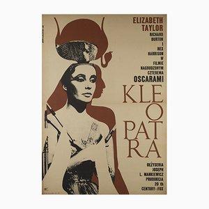 Póster polaco de la película Cleopatra de Eryk Lipinski, 1968