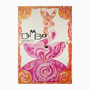 Vintage Czech Dumbo Poster, 1971