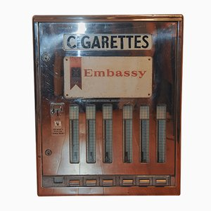 Chrome & Glass Embassy Cigarettes Vending Machine from Brecknell Dolman Rogers Ltd, 1970s