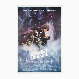Póster de The Empire Strikes Back vintage de Roger Kastel, 1980