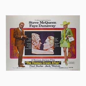 Affiche Thomas Crown Affair Vintage par Arnaldo Putzu, Grande-Bretagne, 1968