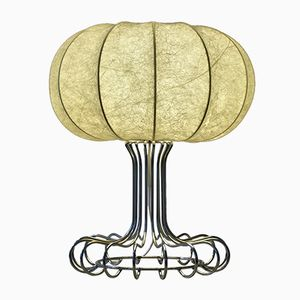 Vintage Chromed Metal Table Lamp by Achille Castiglioni