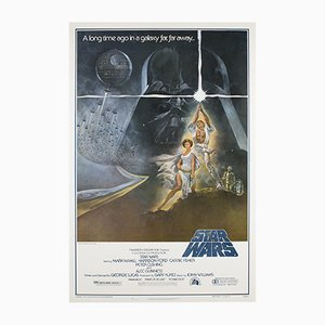 Affiche Originale Star Wars Vintage par Tom Jung, 1977