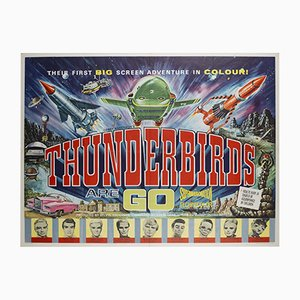 Vintage British Thunderbirds Film Movie Poster, 1966