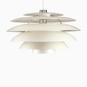 Vintage White Aluminum Suspension Light by Stilnovo