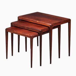 Tables Gigognes Vintage en Palissandre par Johannes Andersen pour CFC en Soieeborg, 1960s