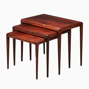 Vintage Rosewood Nesting Tables by Johannes Andersen for CFC Silkeborg, 1960s