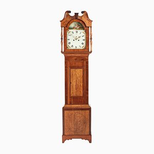 Antique Oak & Mahogany 8-Day Long Case Clock