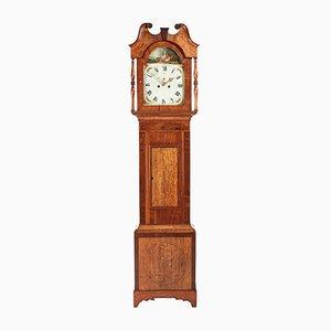 Reloj de caja alta 8-Day antiguo de roble y caoba