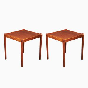 Tables d'Appoint Mid-Century, Danemark, 1960s, Set de 2