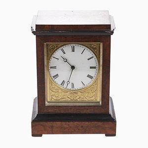 Orologio da tavolo antico in noce ebanizzata di Baldwin