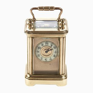 Small Antique Lacquered Brass Cased Carriage Clock, 1860s