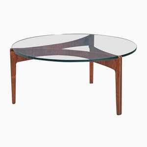 Table Basse Vintage en Palissandre par Sven Ellekaer pour Christian Linneberg