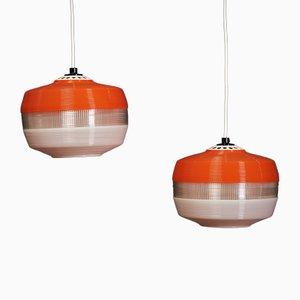 Lámparas colgantes holandesas vintage, años 60. Juego de 2