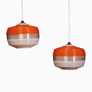 Lampes à Suspension Vintage, Pays-Bas, 1960s, Set de 2