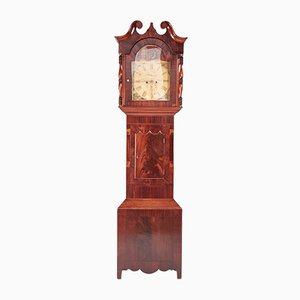 Large Antique Mahogany 8-Day Painted Face Clock