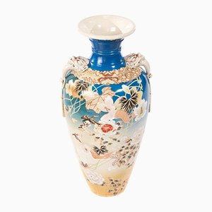 Large Antique Japanese Satsuma Vase, 1880s
