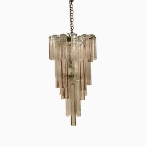 Large Vintage Murano Tube Chandelier by Paolo Venini for VeArt