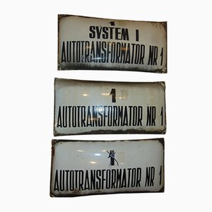 Vintage Polish Industrial 3-Piece Sign