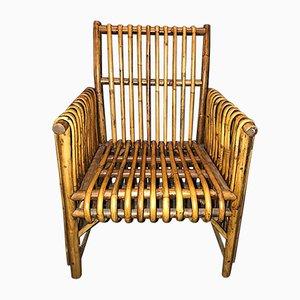 Italienischer Armlehnstuhl aus Bambus, 1950er
