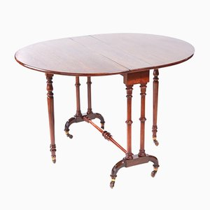 Antique Victorian Walnut Sutherland Table, 1860s