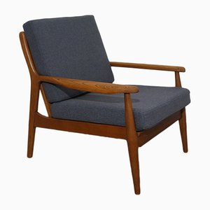 Vintage Scandinavian Oak Lounge Chair