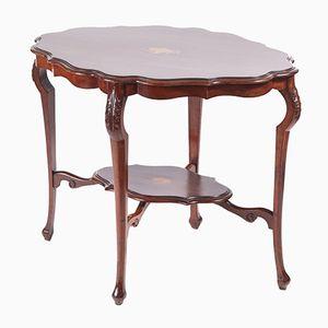 Edwardianischer Tisch aus Mahagoni mit Intarsien