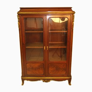 Antique Napoleon III Mahogany Display Cabinet from Krieger