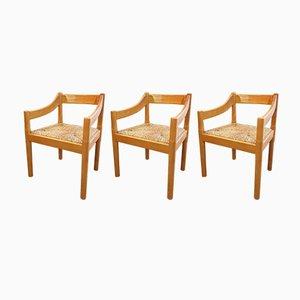 Carimate Esszimmerstühle von Vico Magistretti für Cassina, 1970er, 8er Set