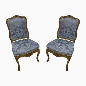 Sillas auxiliares, siglo XVIII. Juego de 2
