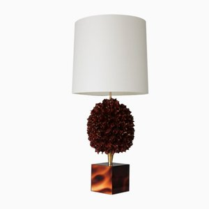 Large French Floral Table Lamp, 1970s