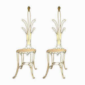 Vintage Stühle aus Eisen, 1930er, 2er Set