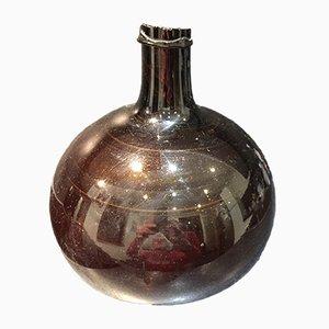 Jarrón antiguo de vidrio ámbar, década de 1830