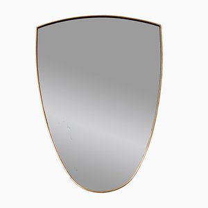 Italian Brass Wall Mirror, 1950s