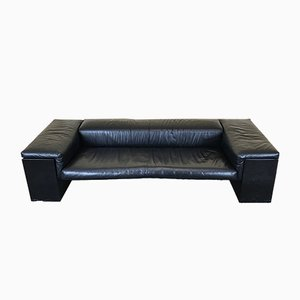 Vintage Brigadier Leather Sofa by Cini Boeri for Knoll International