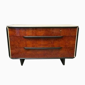 Art Deco Walnut & Parchment Chest of Drawers, 1930s