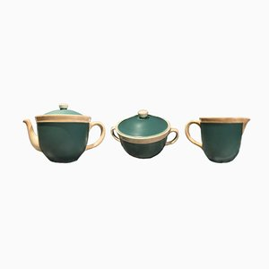 Servizio da tè San Cristoforo vintage di Giovanni Garibaldi per Richard Ginori, anni '30, set di 3