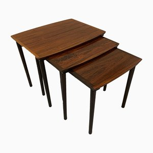 Vintage Rosewood Nesting Tables from Mobelintarsia