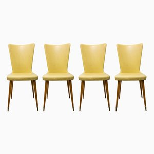 Spanische Mid-Century Esszimmerstühle, 1950er, 4er Set