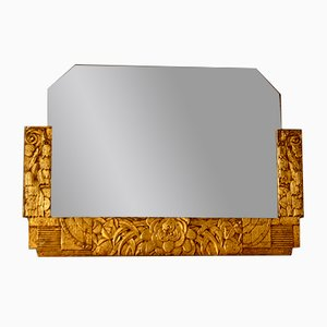 Französischer Art Deco Spiegel, 1930er