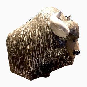 Bison en Céramique par Göran Andersson pour Upsala-Ekeby, 1960s