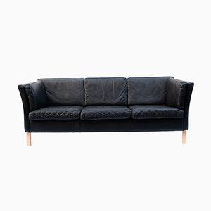 Canapé Vintage en Cuir Noir, Danemark