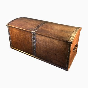 Large Antique Oak Trunk
