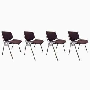 DSC 106 Chairs by Giancarlo Piretti for Castelli, 1960s, Set of 4
