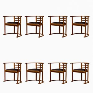 Art Deco Swedish Dining Chairs, 1920s, Set of 8